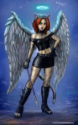 Kitty Cat Angel by SirTiefling