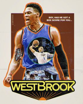 Russell Westbrook Westworld Poster by skythlee