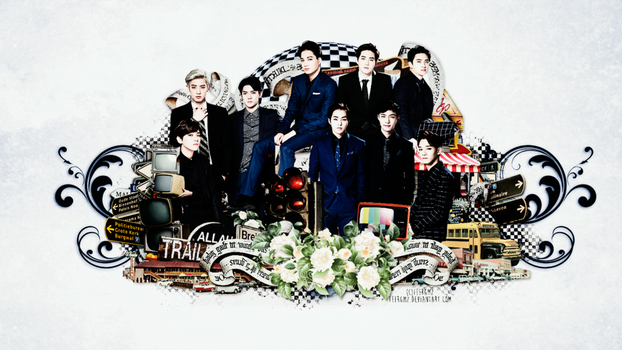 {Wallpaper 51} EXO by FeerGmz