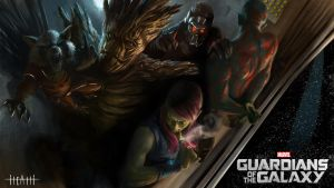 Guardians of the Galaxy by Ghostbrush
