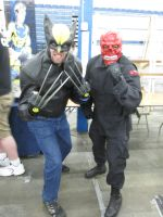 Wolverine and Red Skull cosplay by videogameking613