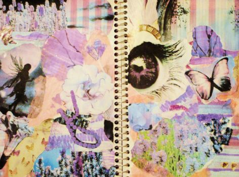 My Art Journal pg 1 and 2 by sugarblooms