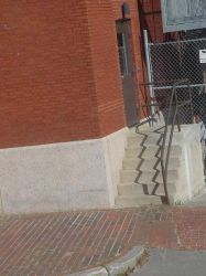 stair shadow zigzags by KCclearwater