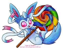 Collaboration: Sweet Sylveon by SilverSugar