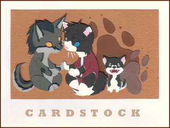 Cardstock Cutouts- Kamo n Co. by chaoticdreamer