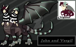 Conjoined Dragon Taur Twins [A.C.] by RoneOmbre