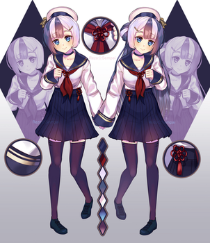 Character Adopt: Twins girl by Batrez