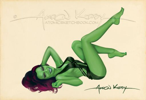 Gamora by Aaron Kirby by AtomicKirby