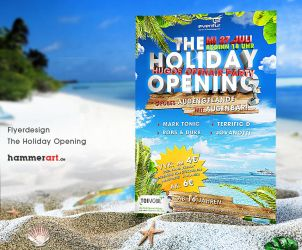 Holiday Opening - Flyerdesign by razr-designs