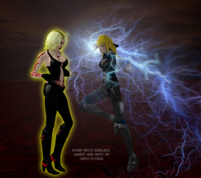 Anya throws a powerful lightening punch by AnyaStorm