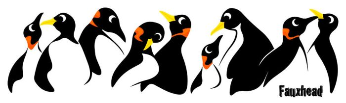 Penguins by FauxHead