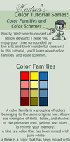 Color Tutorial Series: Color Families and Schemes by Xadrea