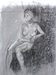 full figure life drawing model by 0202742