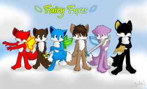 Fairy Foxes - Group Pic by StickFreeks