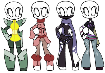 Outfit Adopts 1-4 by SaraBranch