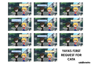 [GACHAVERSE COMIC] Yaya's first request for Cata by CataMetro