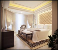 bedroom classic style by jaxpc