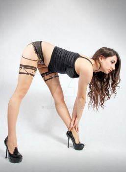 New stocking series 1/15 (Bending over) by Aszap