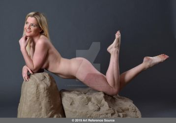 Stock:  Sofia nude in mermaid or swimmer pose by ArtReferenceSource