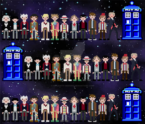 A Dozen Doctors Who (tiered) by implexity-designs