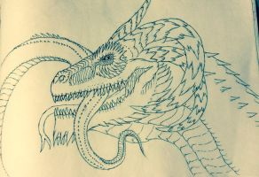 Jormungandr The Midgard serpent by Redspets