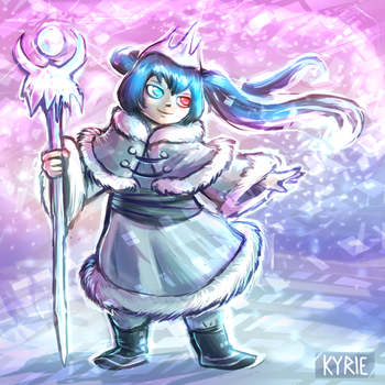 Snowko, the Winter Fairy of the Chateau by Vaelkyrie