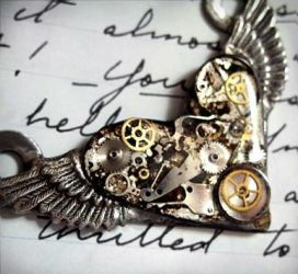 Steampunk Flying Heart by txgirlinaz