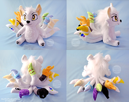 Ten Tailed Wolf OC Plush by SewYouPlushieThings
