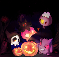 spooky pokemon by bluumi
