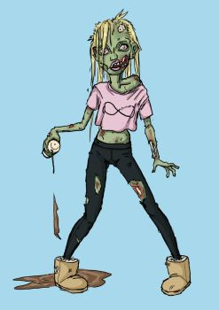 Monster Girl Challenge: Day 12 Zombie by Rococokara