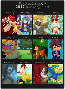 2017 Summary of Art by ArchaosTeryx