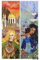 Tolkien bookmarks: Glorfindel and Ecthelion by sassynails