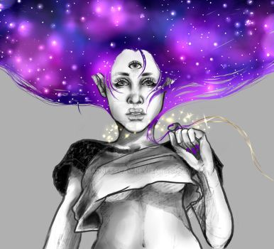 Mother Universe GreyBG by MadnessCat