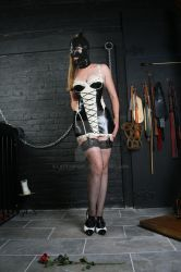 Black and White Latex Pigalle Dress by LatexModel