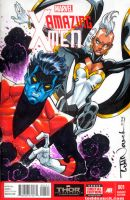 Nightcrawler and Storm by ToddNauck
