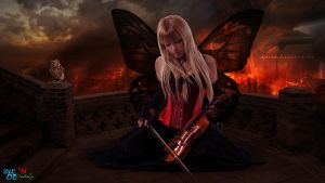 Violin Angel at Mordor by DJnetZ