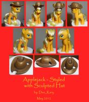 Applejack - Styled with Sculpted Hat by DeeKary