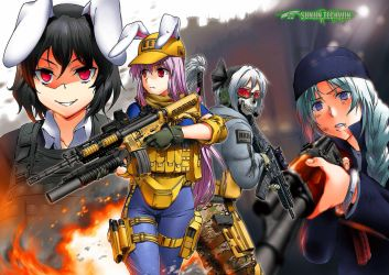 22728 Anime Girls Anime Girls With Guns Edited by nayster24