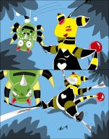 Ampharos fail (commission) by Reimon-Master-II