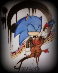 Sonic The Violoncellist by ApocalypseBloodStars