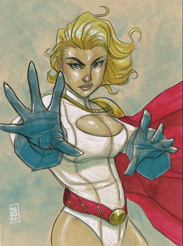 Power Girl by Hodges-Art