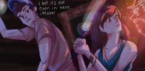 Ghost Hunt--Gravity Falls by LittleMsArtsy