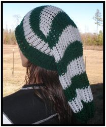 Commission - Slytherin Super Slouchy Beanie by RebelATS