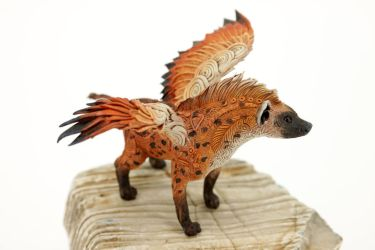 Feathered hyena by hontor