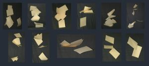 Falling paper pack by faestock