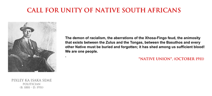 Pixley Seme - unity of native South Africans by YamaLama1986