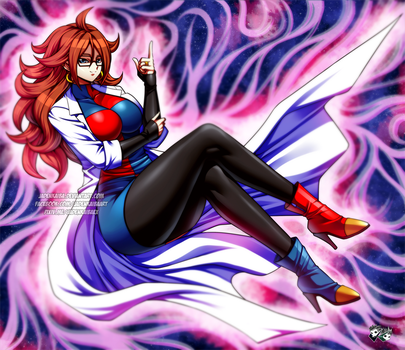 DRAGONBALL FIGHTER Z : Android 21 Lab Coat Version by jadenkaiba
