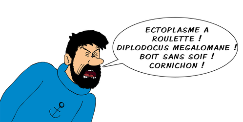 Le capitaine Haddock s'enerve by ZeFrenchM