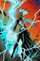 X Men Storm By Sandoval Art - SWoD Colored by Big-SWoD-industries