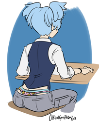 PATRON REQUEST: Nagisa (Colored) by Chromosomefarm